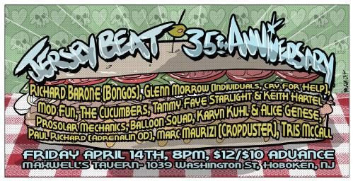 Jersey beat united byjames damion astoria brians poster for jersey beats anniversary show malvernweather Gallery